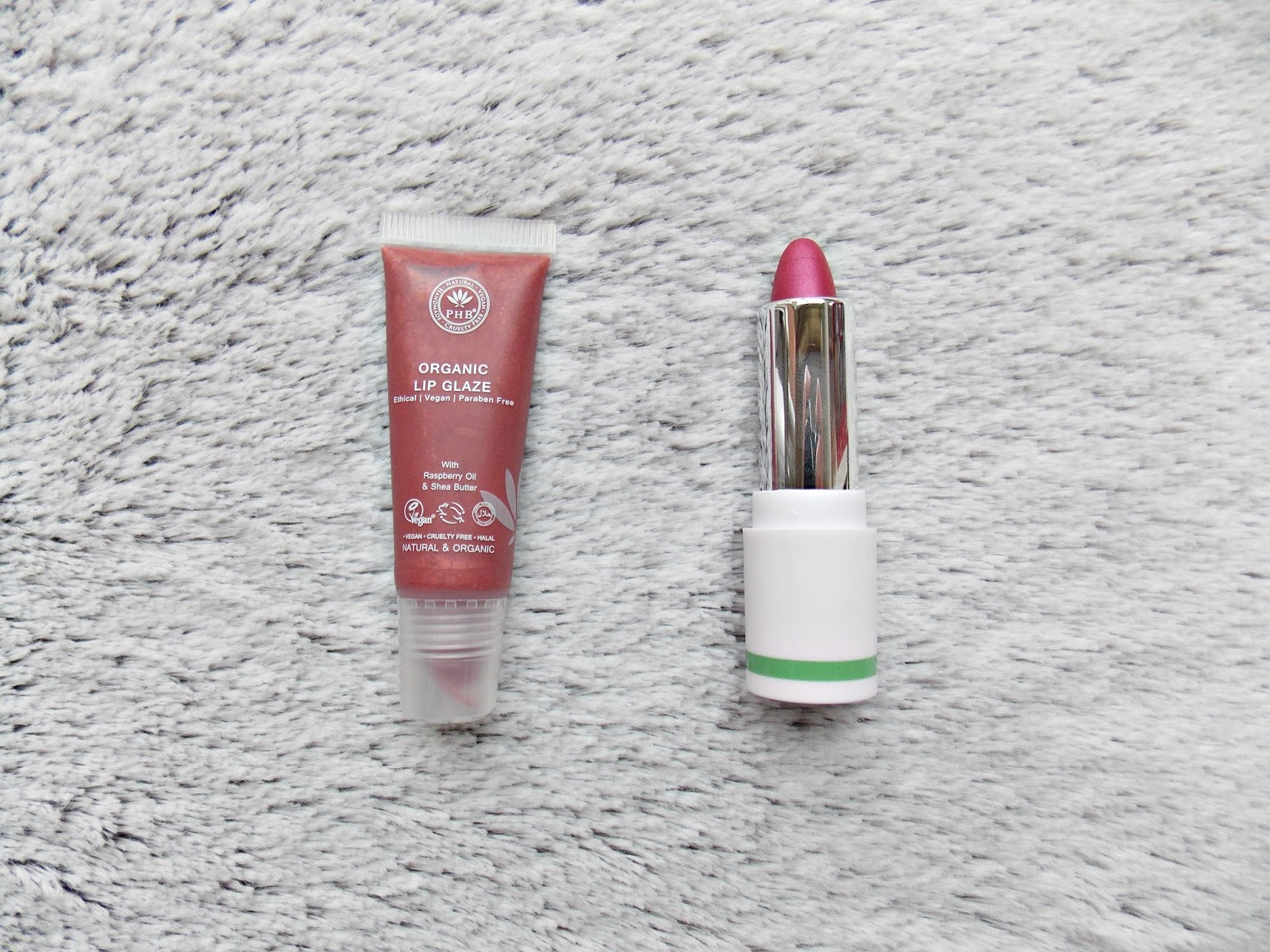 PHB Ethical Beauty Lip Tint and Lip Glaze