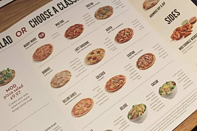 MOD Pizza Menu