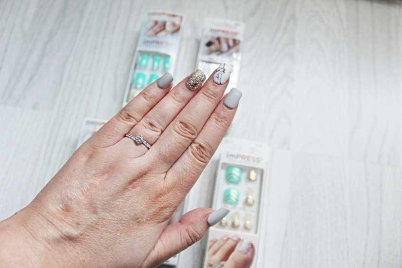 imPRESS Nails Grey